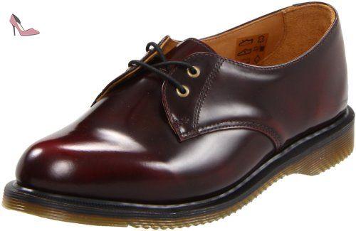 Dr. Martens 3989 Brogue Shoe 13844600 - Zapatos de cordones de cuero para hombre, Rojo, talla 42 EU