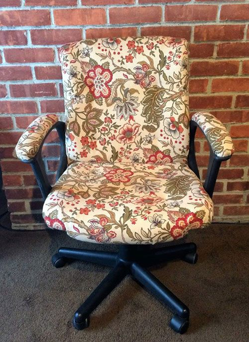 How To Reupholster An Office Chair Chair Vintage Sewing