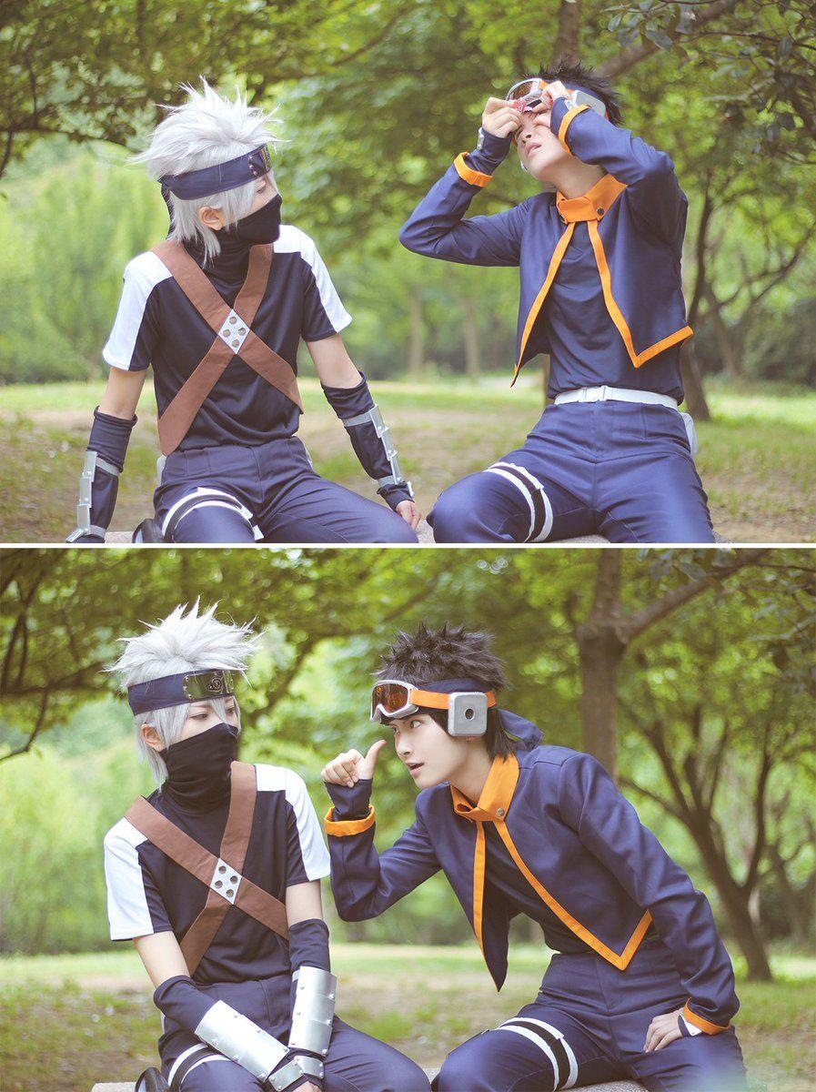 Ahh, they're so cute!! // Kakashi & Obito cosplay