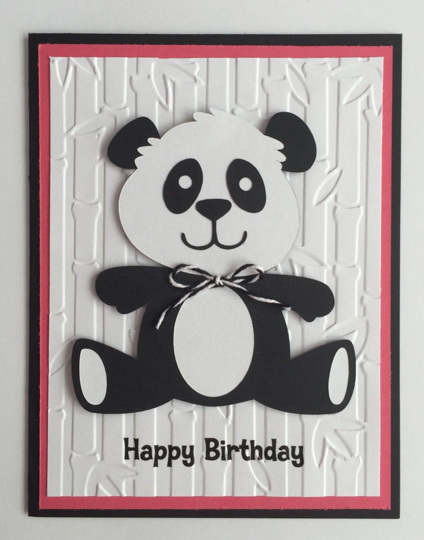 Handmade happy birthday panda card a2 birthday cute panda by handmade happy birthday panda card a2 birthday cute panda by juliespapercrafts on bookmarktalkfo Choice Image