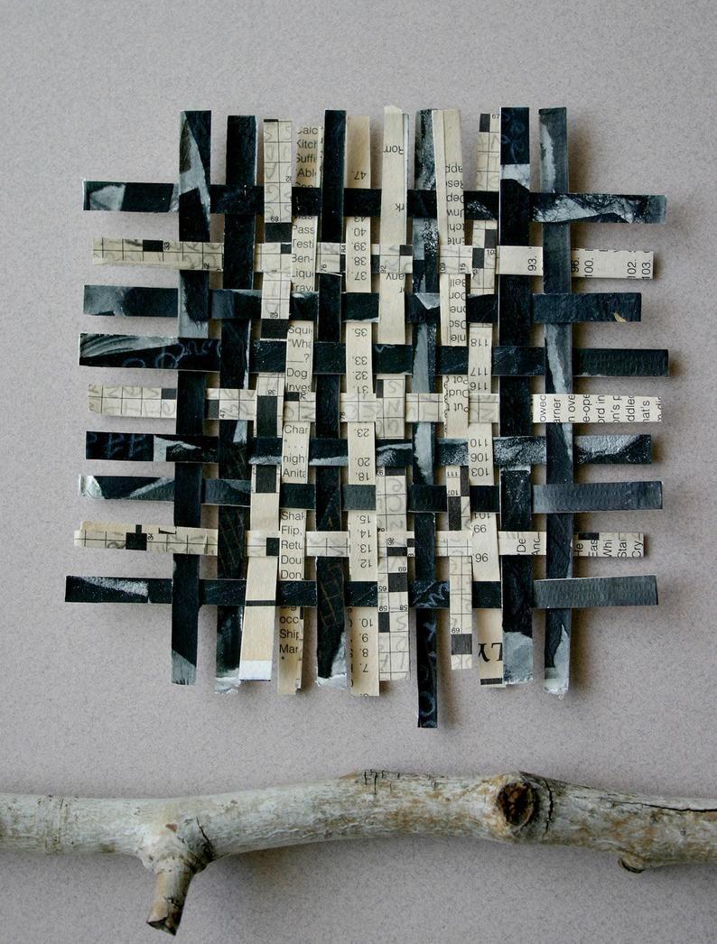 Crossword Paper Weaving Original Woven Paper Art Crossword
