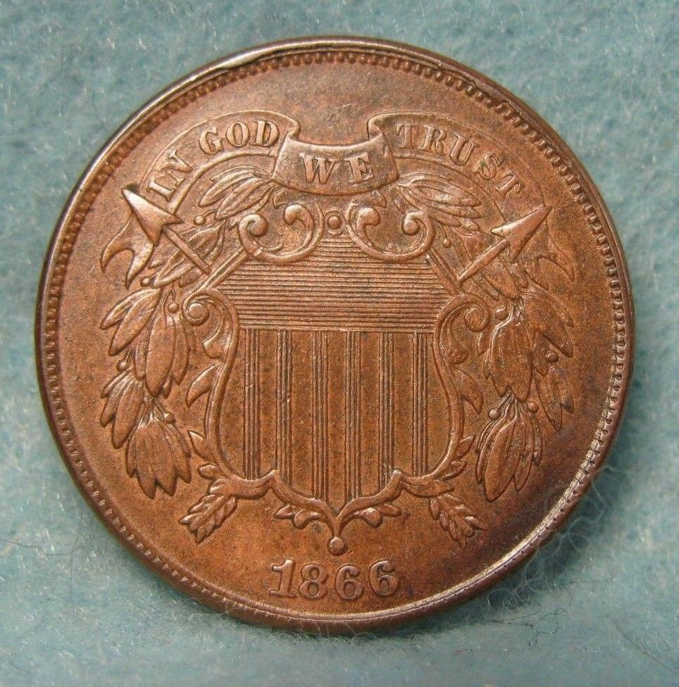 1866 Two Cent Piece Xf Us Coin Goldbullion Coins Valuable Coins Coin Collectors