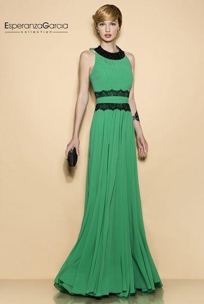 Vestidos de noche verde jade