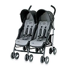 image of Chicco® Echo™ Twin Stroller in Coal
