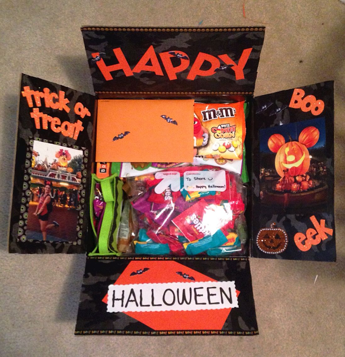 Halloween Care Package #spookybasketideasforboyfriend