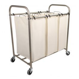 Deluxe Triple Laundry Sorter Simplify Your Laundry Routine By
