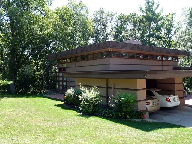 James McBean House. Usonian Style. Frank Lloyd Wright.  Rochester Minnesota.1957. Plan #2 of two designs for the Marshall Erdman Prefab House Project. Designed in 1956.