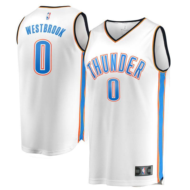 aaa06883693 Russell Westbrook Oklahoma City Thunder Fanatics Branded Fast Break Replica  Jersey White - Association Edition
