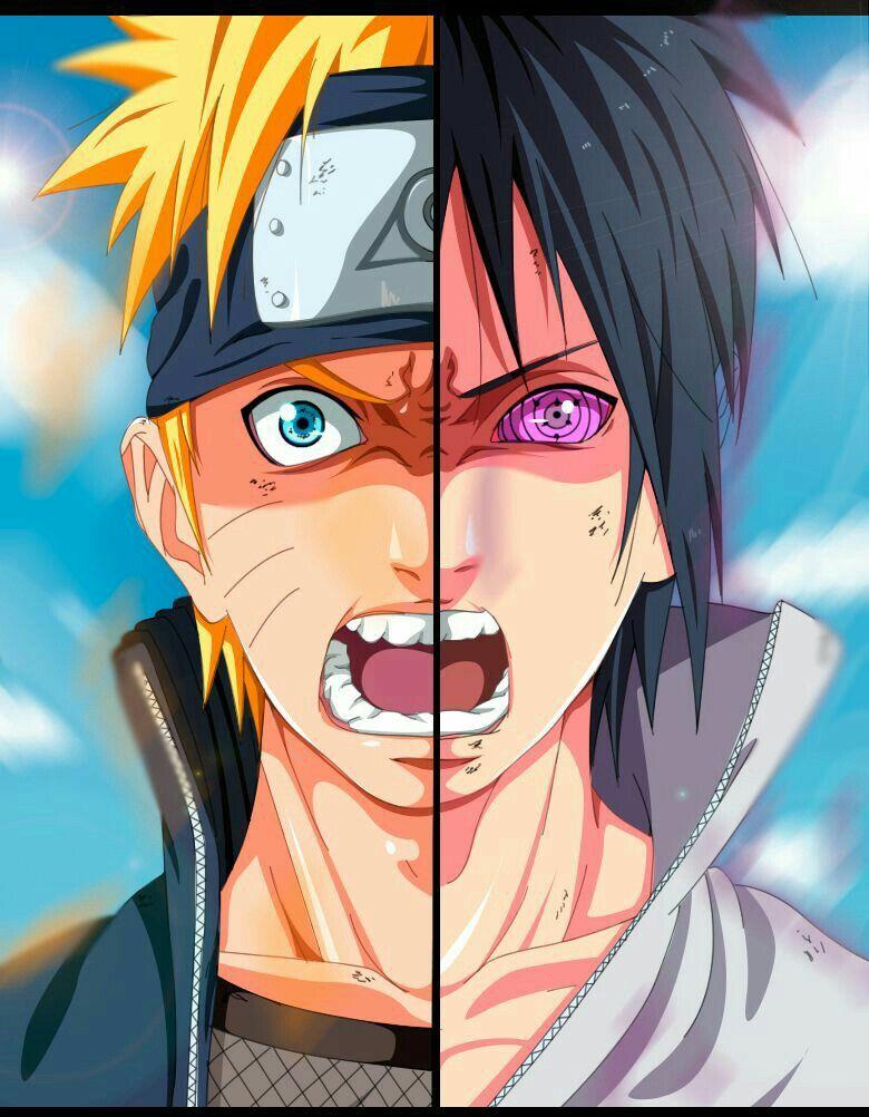 Naruto vs. Sasuke (perso je préfère Naruto) Dessin