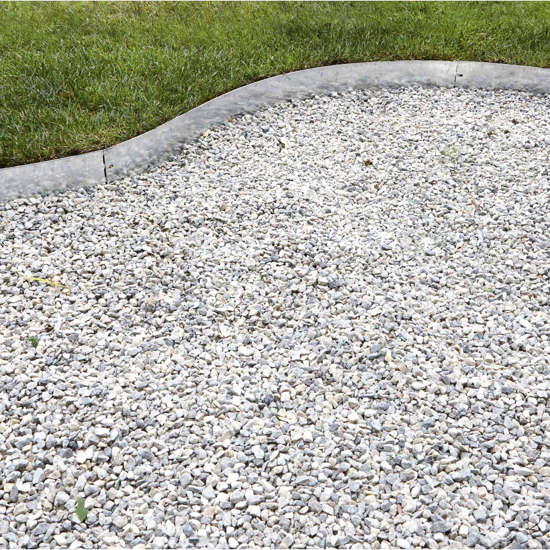 Bordure A Planter Metal Acier Galvanise Gris H 12 5 X L 118 Cm Bordure Jardin Stabilisateur De Gravier Bordure