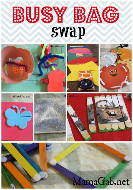 How to organize a Busy Bag Swap AND 7 great Busy Bag ideas.  So FUN!