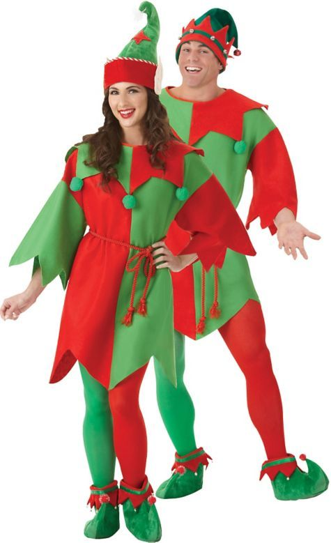 Adults Mens Santas Christmas Helper Cheeky Elf Suit Fancy Dress Costume /& Shoes