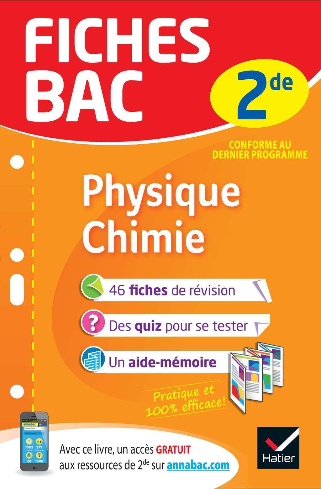 Fiches Bac Physique Chimie 2de Ebook Physique Chimie Physique Chimie Seconde Fiches