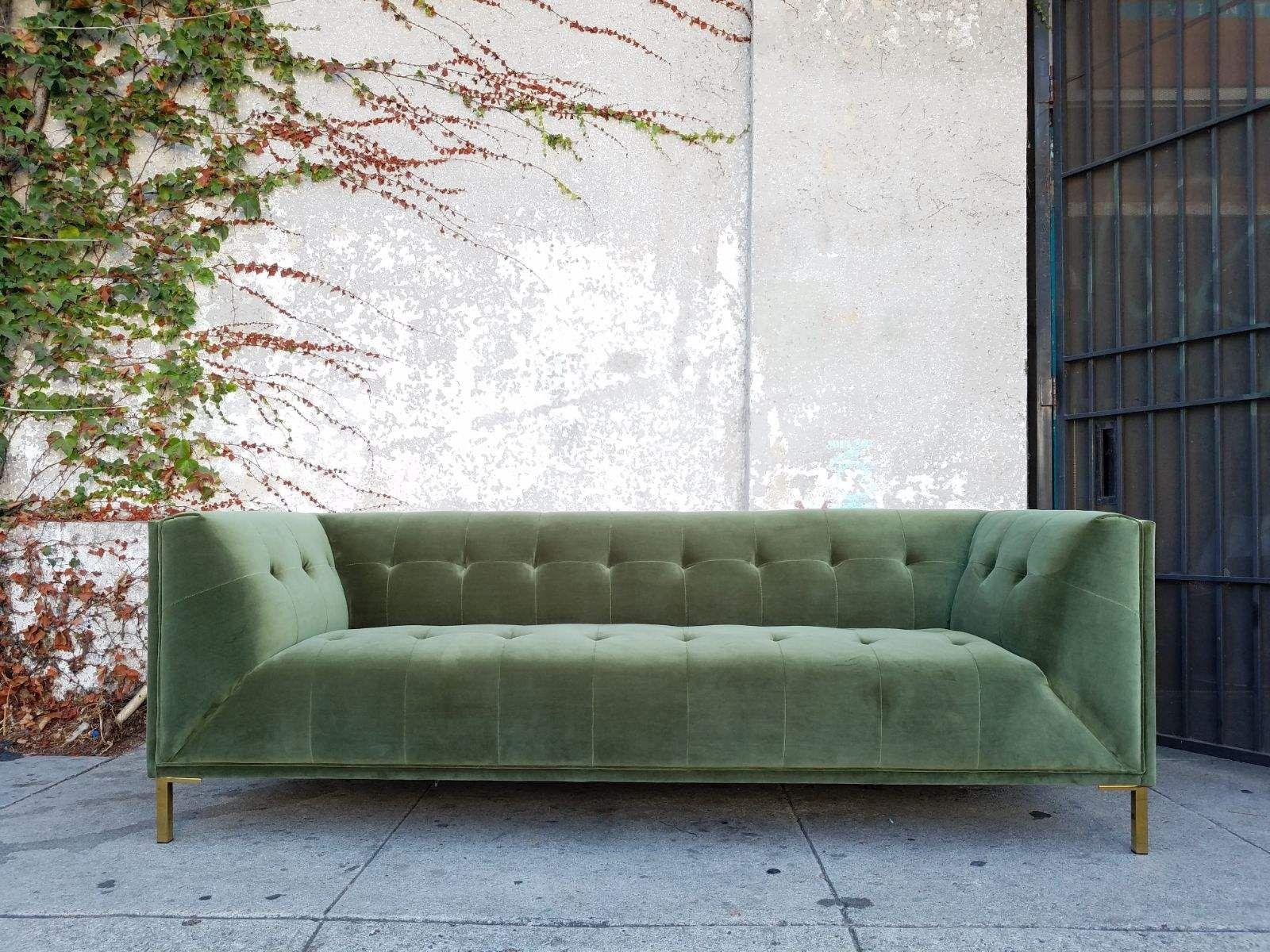 Remarkable Sage Green Velvet Sofa Green Velvet Sofa Velvet Sofa Green Sofa