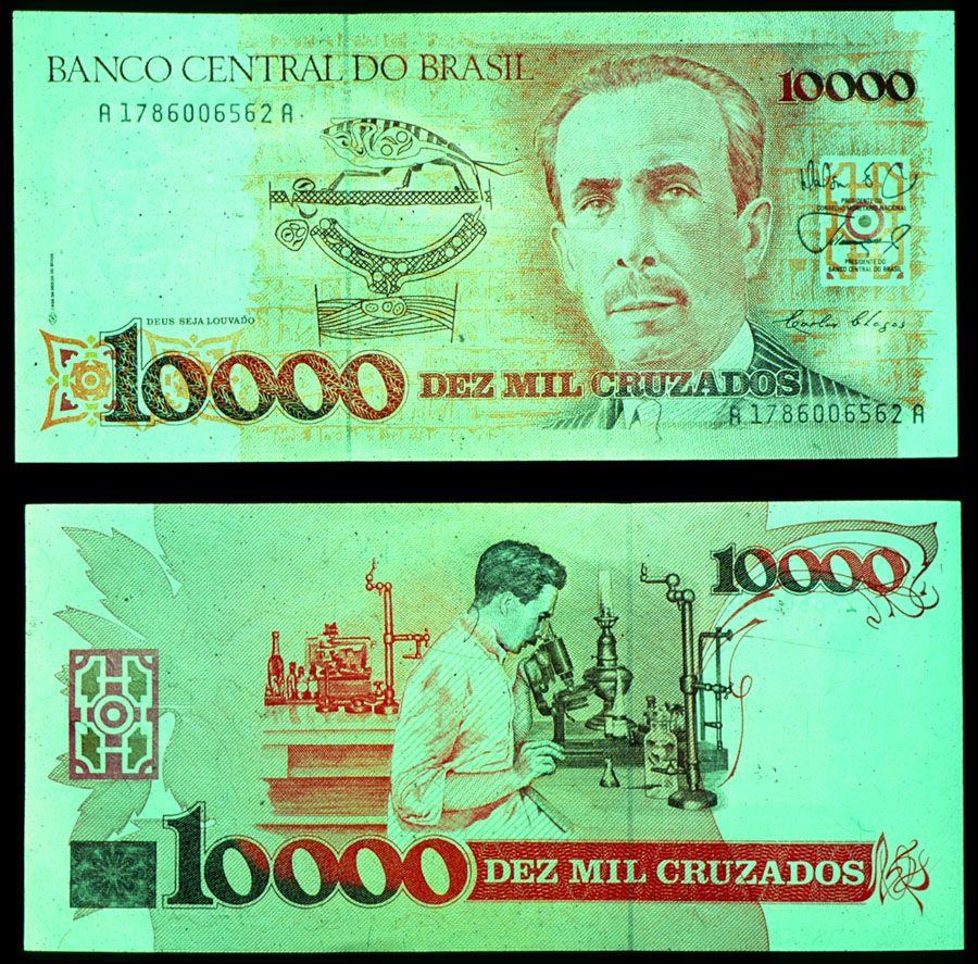 Brazil Currency Brazilian 10 000 Cruzado Note No Longer In Circulation