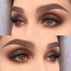 """Helene Sjöstedt on Instagram: """"I used @makeupaddictioncosmetics eyeshadows dirty brown, amber, cocoa lace, velvet bronze and persian rose from the vintage palette  …"""""""