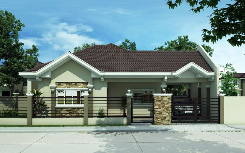 Pinoy house plans series 2015014 pinoy house plans for Floor plan bungalow house philippines