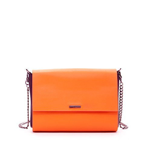 27a80c06f2 SUSU Leather Crossbody Bags For Women Orange Cross body Purse With Black  Gussets Side Purses Cute Designer Handbags With Two Zipper Closure or  Compartments ...