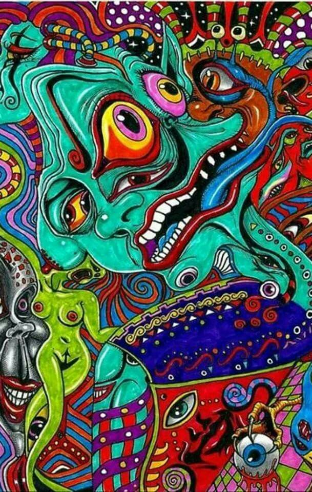 Trippy sunflower | Psychedelic art, Psychedelic, Trippy artwork