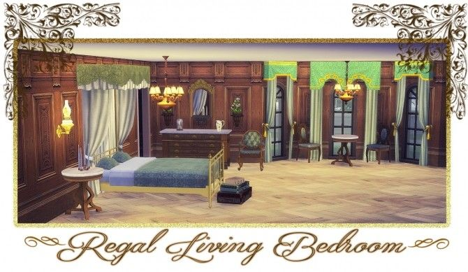 Ts3 to Ts4 Conversion of Regal Living Bedroom at Daer0n  Sims 4 Designs  image 2831