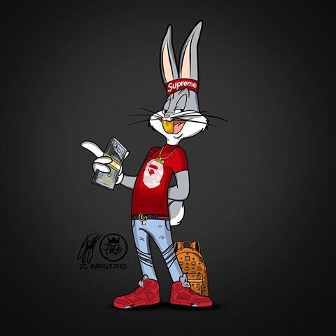 Rugrxtbmoney Commission Illustration Illustrator Illustration Digitalart Digitalpainting Drawing Ar Bunny Wallpaper Bugs Bunny Drawing Bunny Drawing