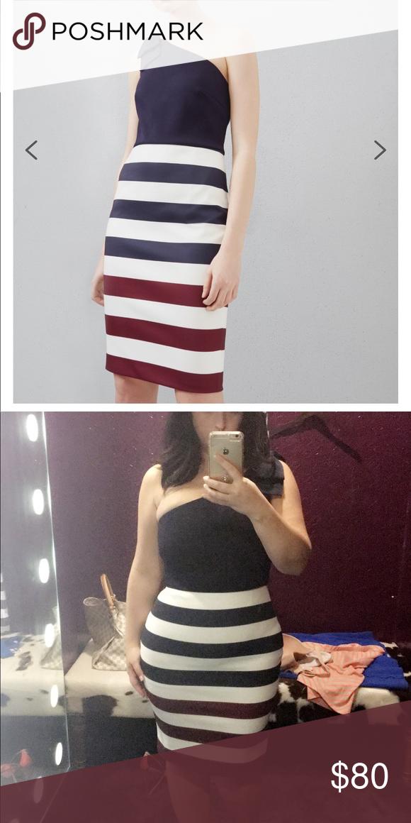 3128386fe Ted Baker Dress size 4 (Large) Hilila dress  Red