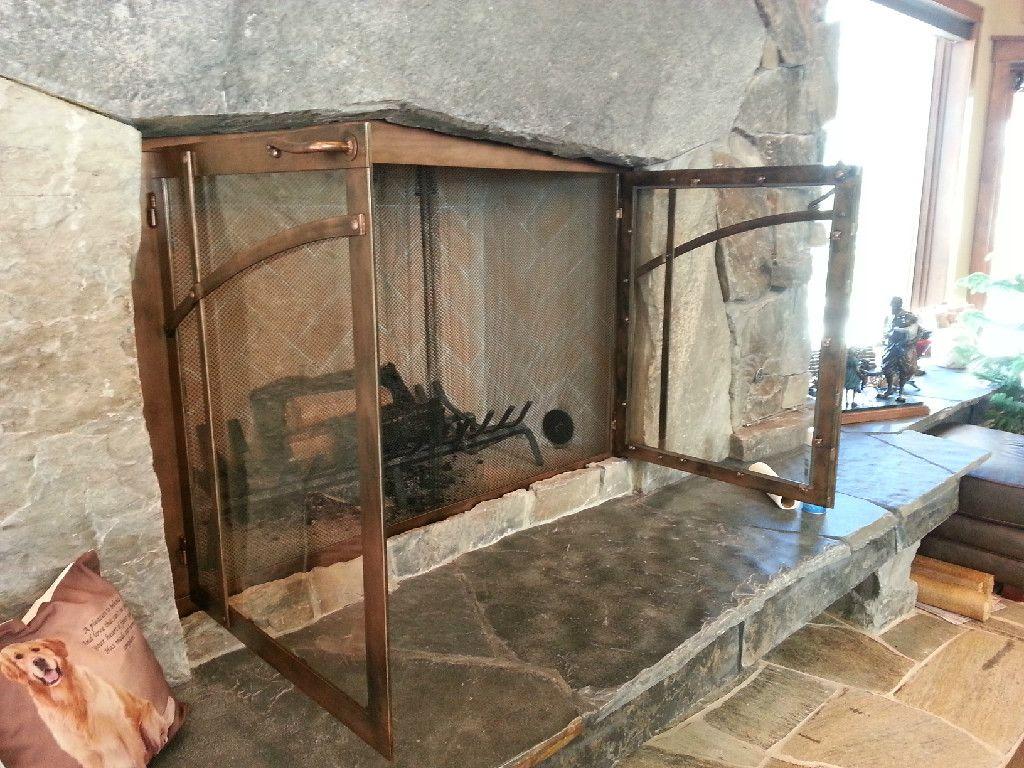 Fireplace Doors Custom Designed By Lous Welding Repair Llc