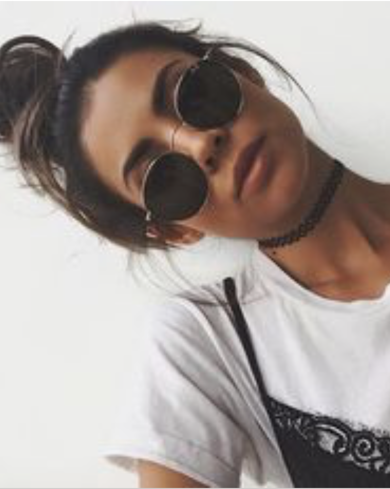 ray ban circle sunglasses + plastic chokers   lace cami over t-shirts     teenfashion  urbanoutfittersfashion 4a72b6c23f