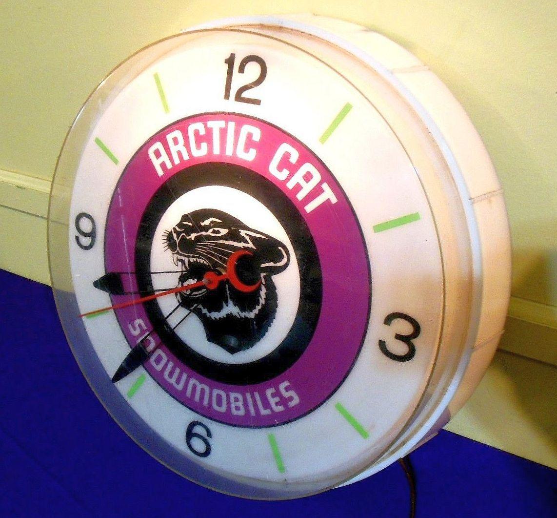 Arctic Cat Snowmobiles Vintage Clock (Old 1960 Antique