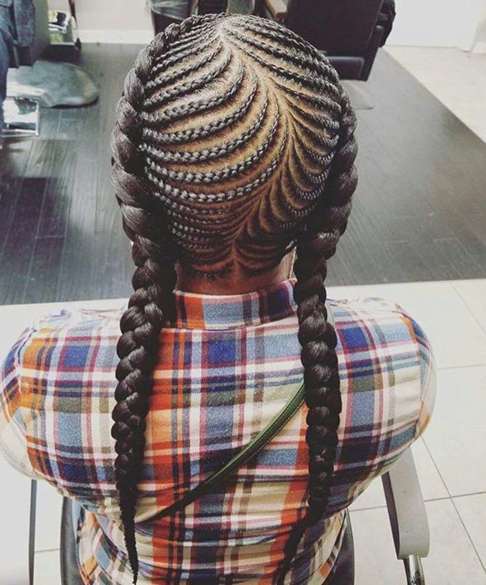 Fishbone Braids Little Girls Hairstyle