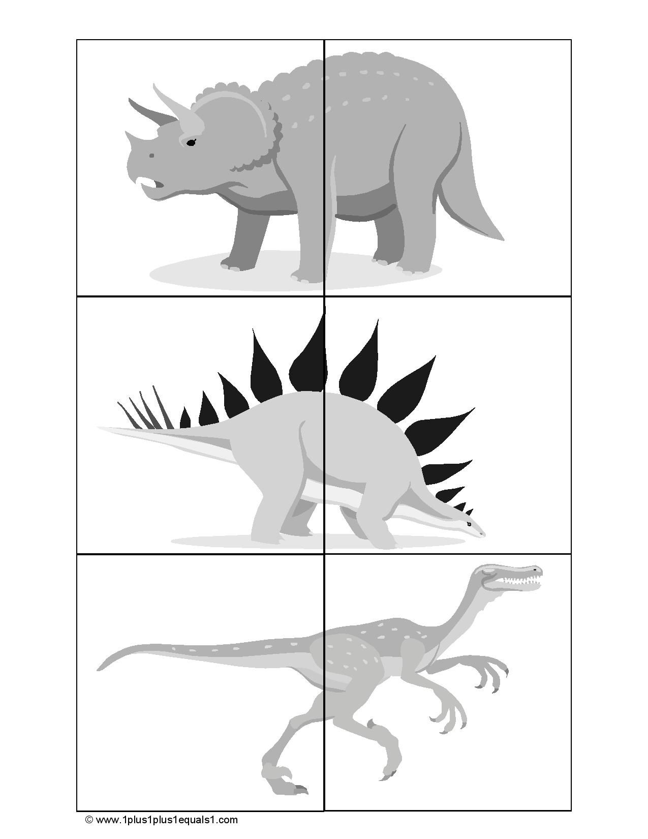 Dinosaur Heads And Tails Matching Game
