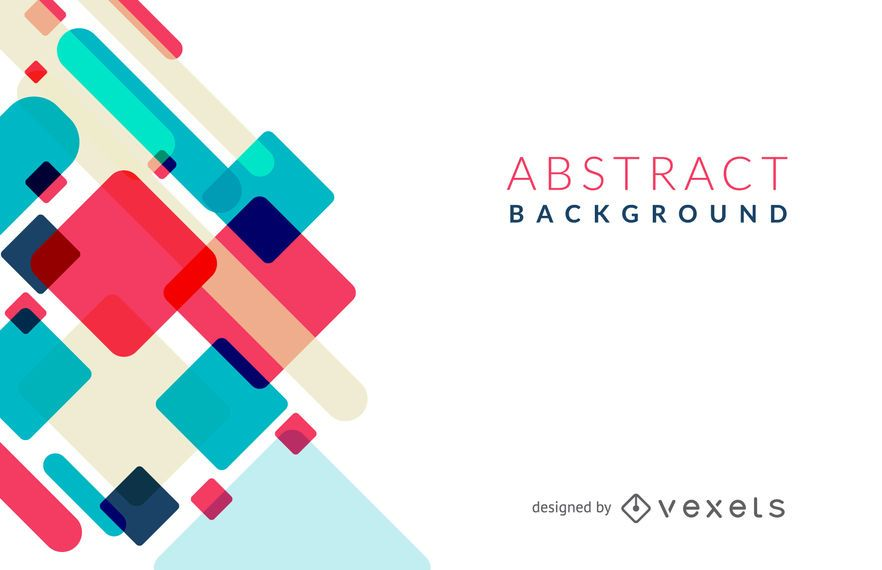 Abstract background featuring dynamic geometric shapes in