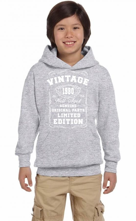 well aged original parts limited edition 1980 Youth Hoodie