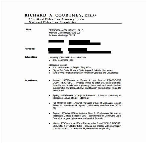 25 Legal Resume Template Word In 2020 Resume Template Word