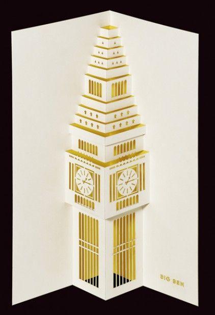 3D Big Ben Carte D/'Anniversaire Carte De Vœux Big Ben Pop Up