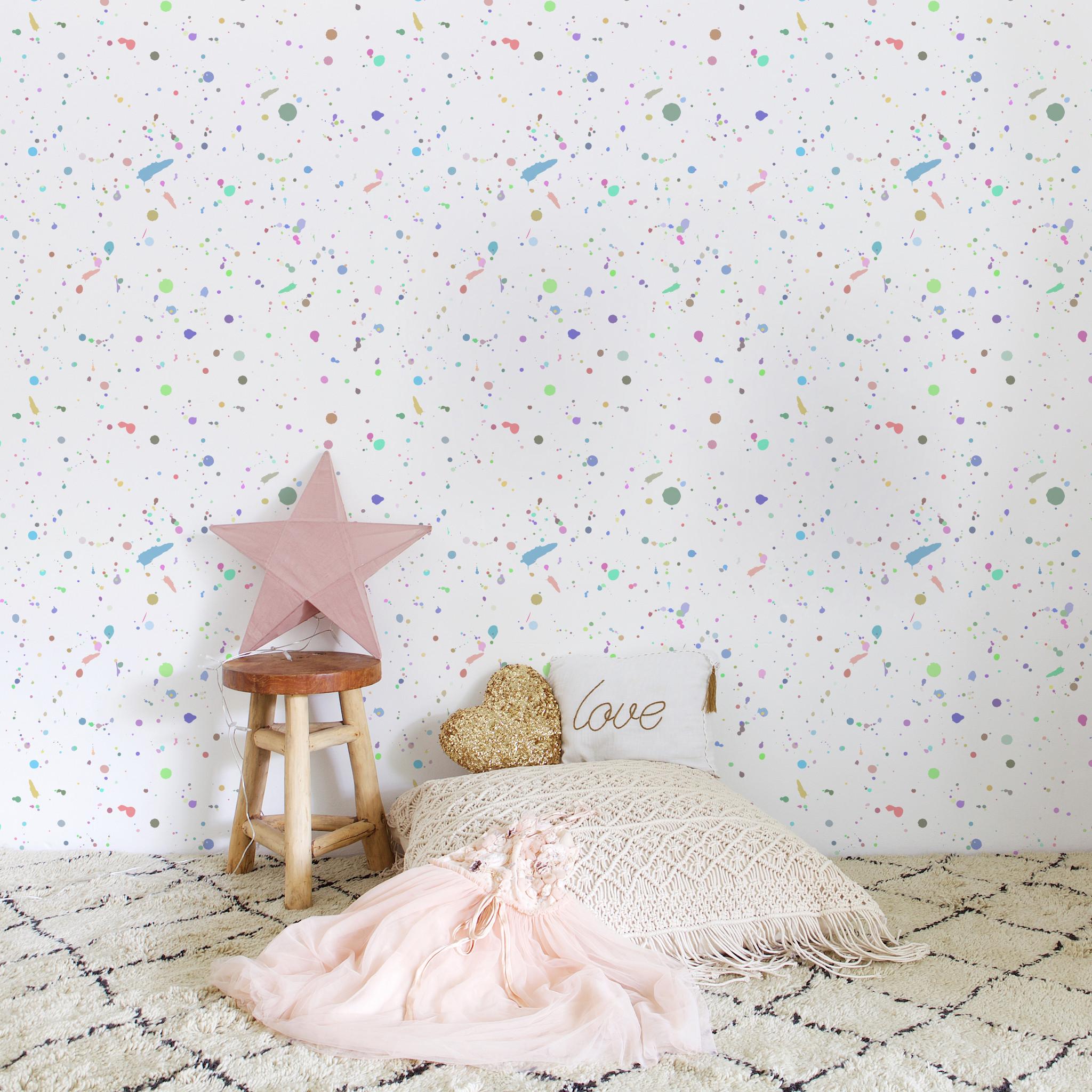 Paint Splatter Removable Wallpaper Kids Wall Murals Murals For