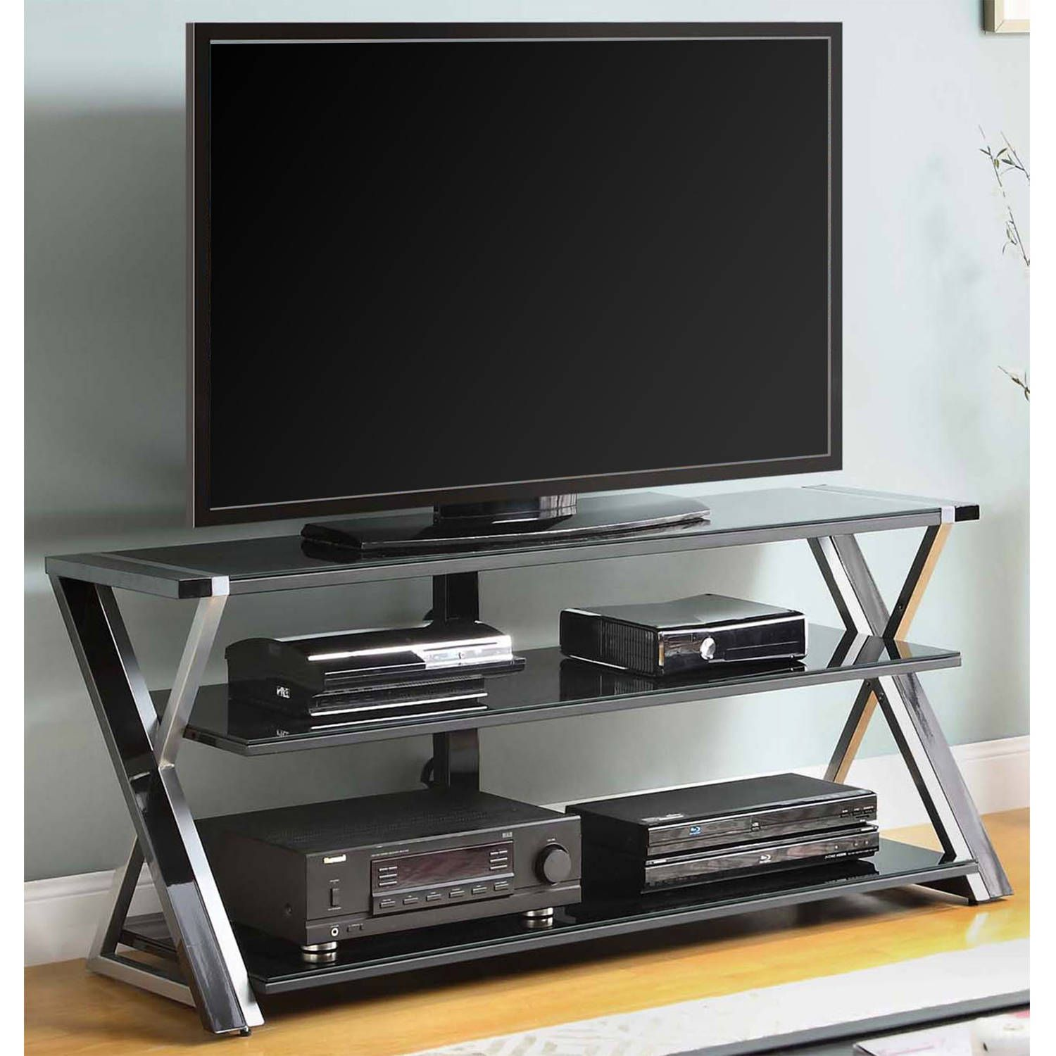 40 Reference Of Tv Stand 65 Inch Target In 2020 Glass Tv Stand Black Tv Stand Black Glass Tv Stand