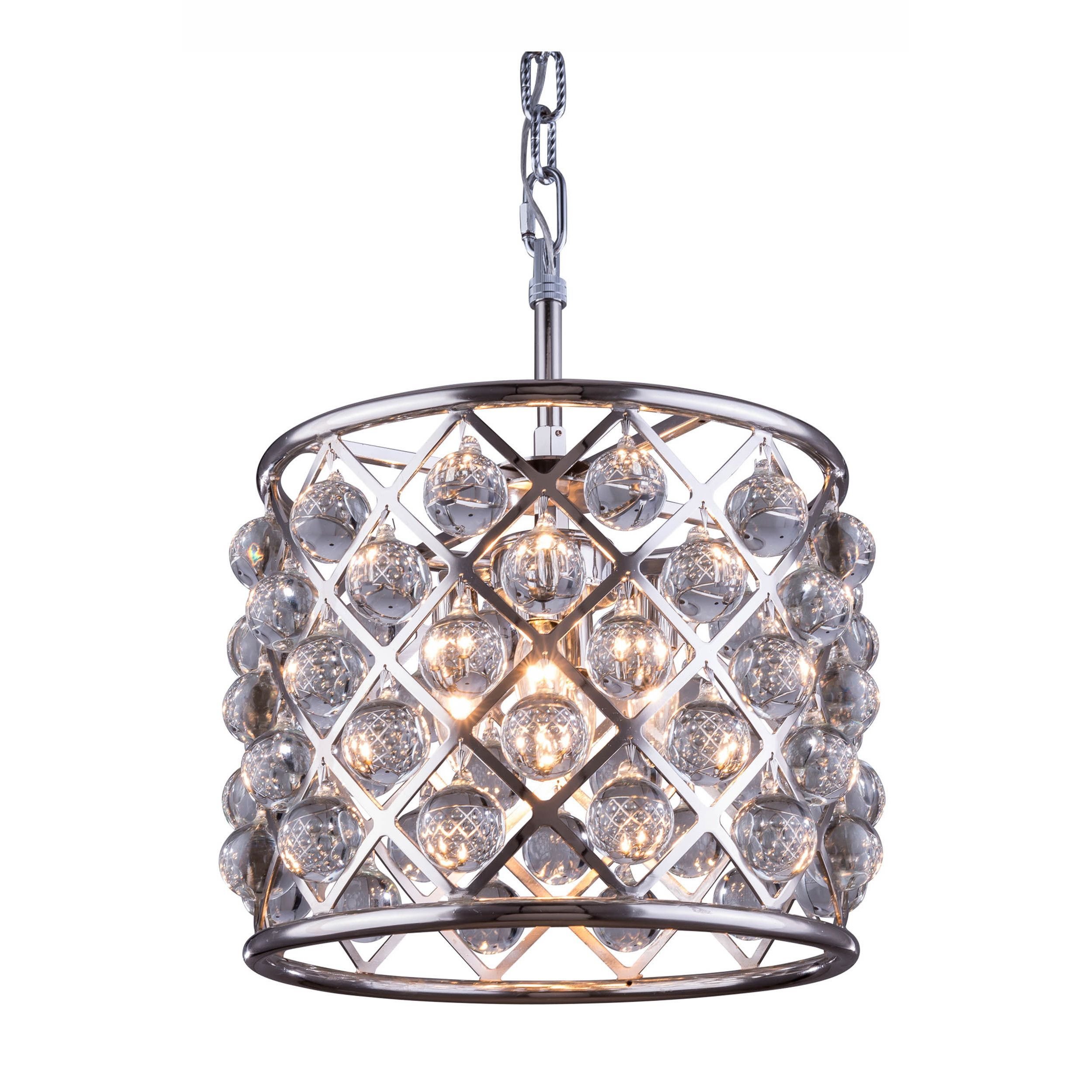 Bombay™ Allston Collection Crystal Trellis Pendant Lamp (Crystal Trellis Pendant Lamp), Nickel (Metal)