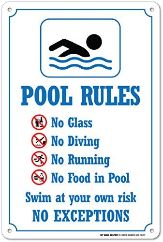 Robot Check Pool Rules Swimming Pool Rules Pool Rules Sign