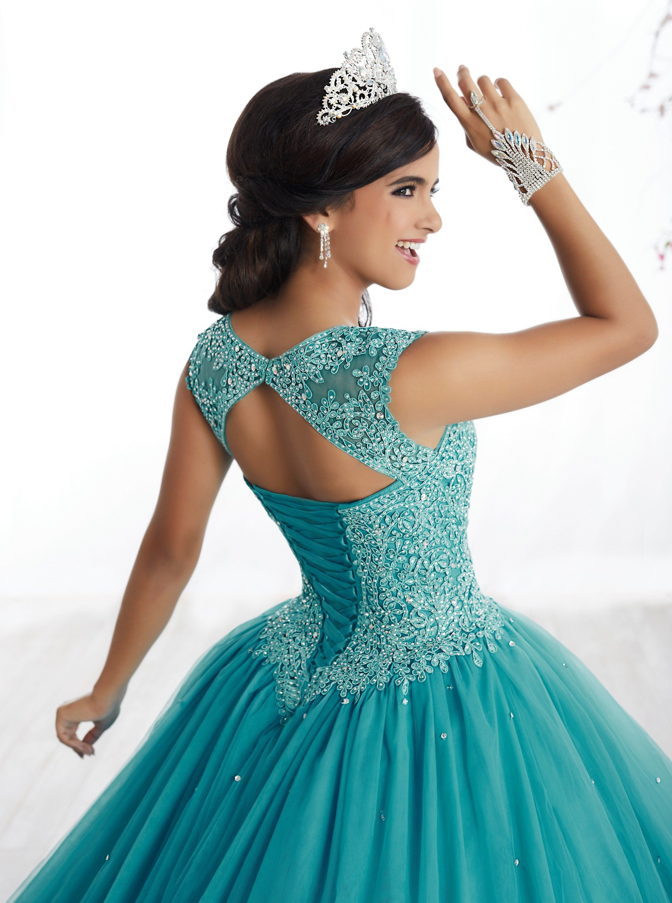 51af84fc07a Illusion Aline Quinceanera Dress by Fiesta Gowns 56329 en 2019