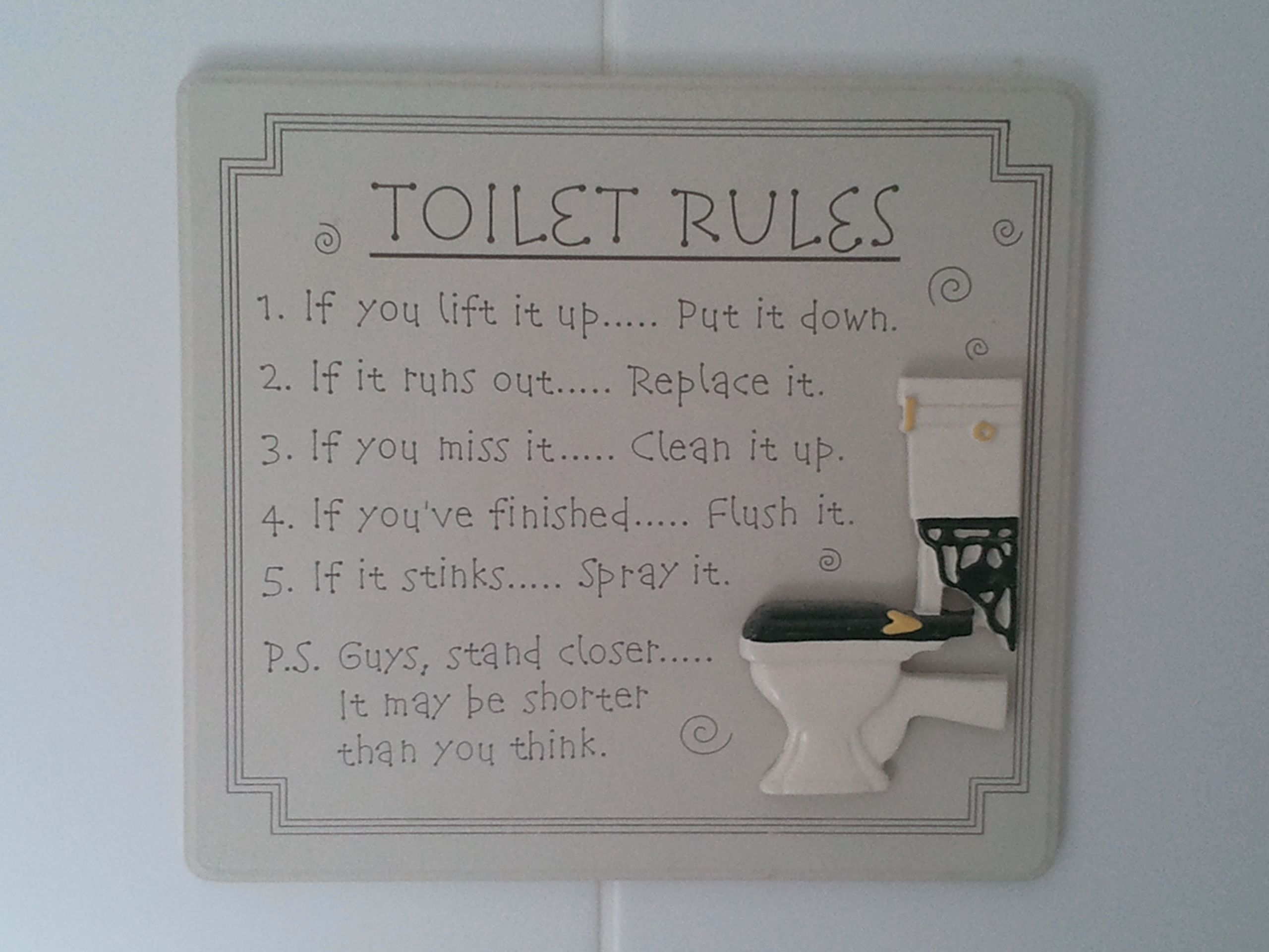 A Bathroom Need Funny Toilet Signs Toilet Rules Bathroom Rules Sign