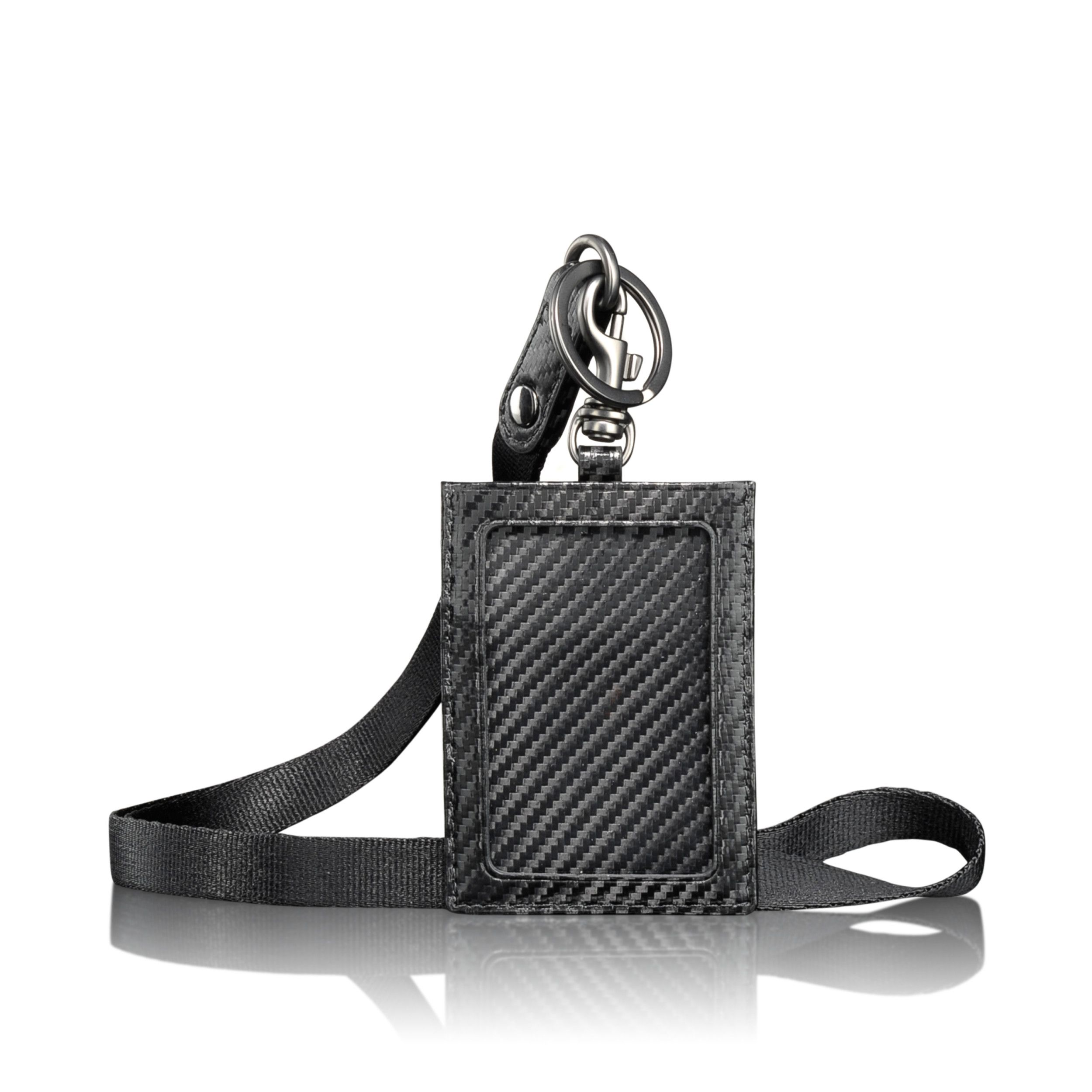 """DID YOU KNOW: Our refined Leather Commuter Lanyard is the little touch of luxe that can save you time, after time? End wrestling your I.D. card from your wallet and simply wear it around your neck. You'll speed from check-in to the gate and everywhere they say, """"I.D., please."""""""