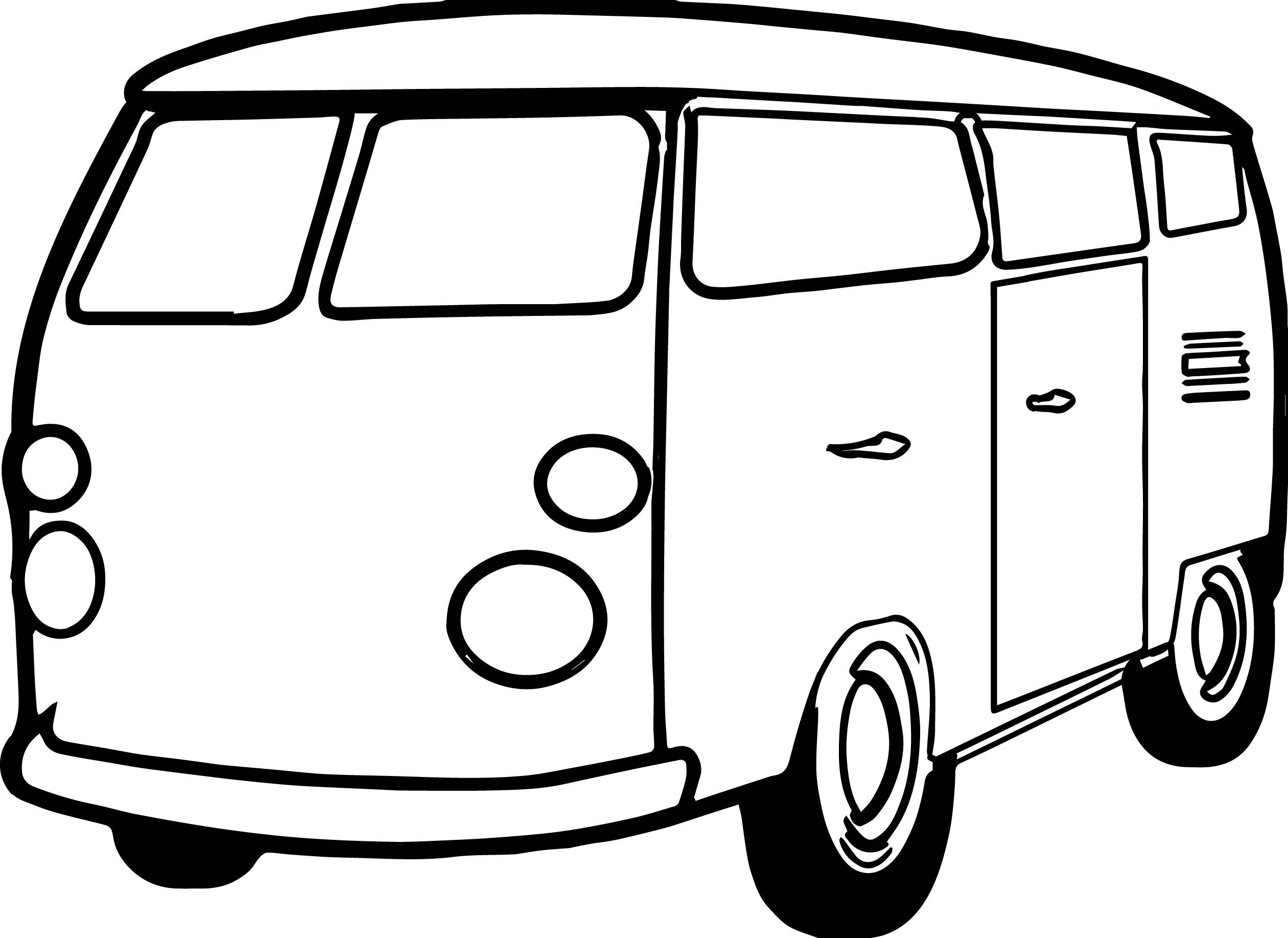 Awesome Van Minibus Coloring Page Coloring Pages Coloring Pages For Boys Boy Coloring