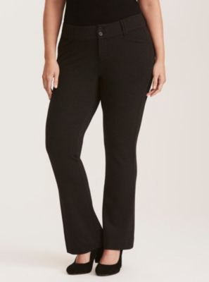 0e11844d8be Mid-Rise Slim Boot Pant Herringbone All-Nighter Ponte in Black white