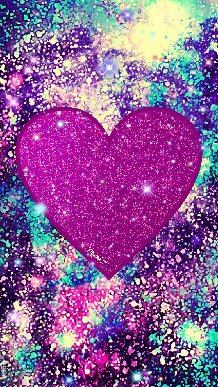 Sparkle Grunge Heart Wallpaper #iPhone #android # ...