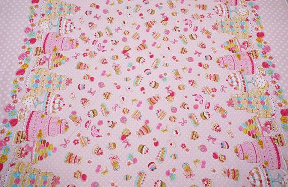 Tea Party cake sweets Japanese Fabric Lolita by shimgraphica