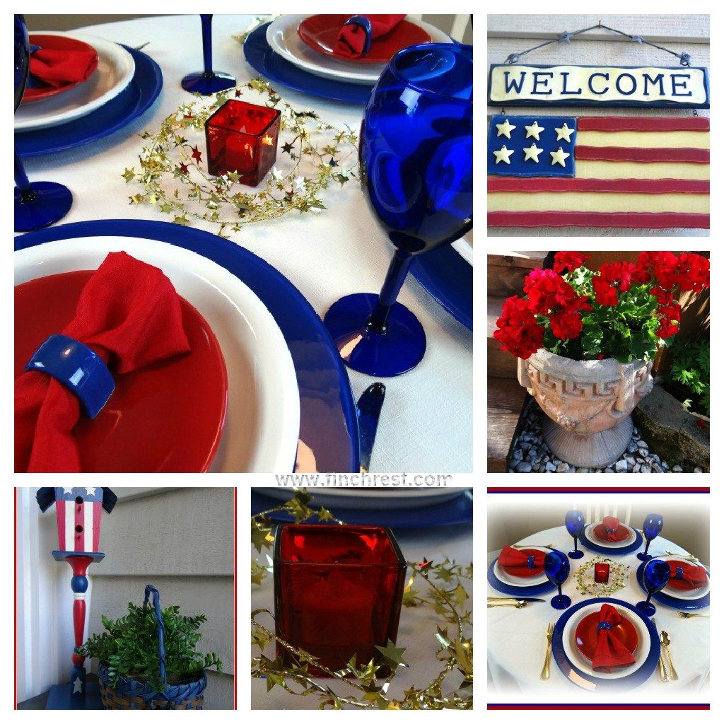 The Nest at Finch Rest: Independence Day Tablescape  http://www.finchrest.com/2012/06/independence-day-tablescape.html
