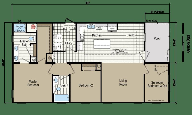 Blake Floor Plan Living Sq Ft 1 302 Bedrooms 3 Baths 2 Louisiana Lafayette Lake Charles Baton Rouge Bathro Dream House Plans Simple House Lake House Plans