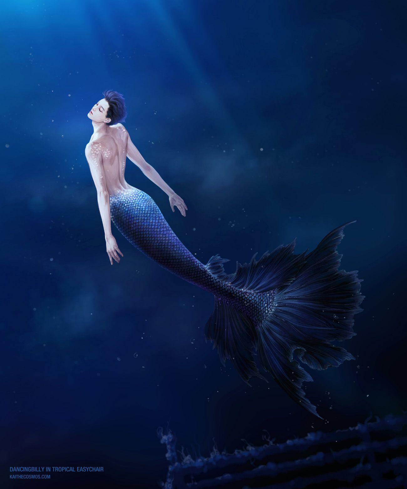 DancingBilly👨 👦 on in 2019 | Mermaid Art | Merman, Mermaid art