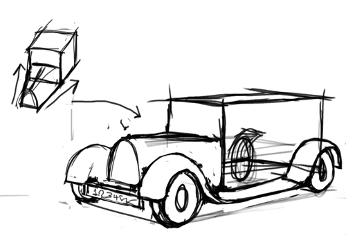 Foervraengd How To Draw A Classic Car Drawing Tutorials